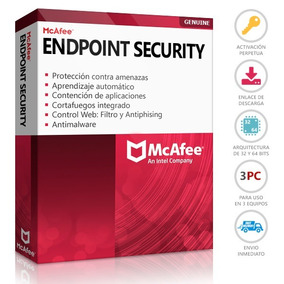 Mcafee Antivirus Endpoint Security 2018 Permanente 3 Pc