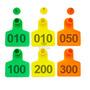 Amarillo 1 a 100