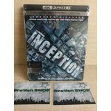 Inception El Origen 4k Slipcover Blu Ray Stock Película