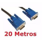 Cabo Vga 20 Metros M/m 20m Macho Projetor Lcd Led Telao