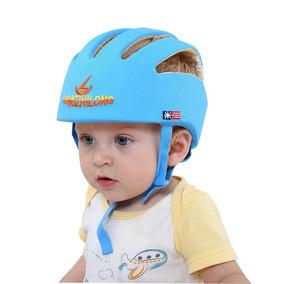 Capacete De Proteção Para Bebê Engatinhar Azul Menino