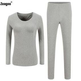 Ropa Interior Tapas + Pantalones Invierno... (gray, M (.)