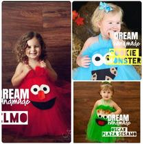 Vestido Elmo Comegalletas Plaza Sesamo , Cookie Monster Abby