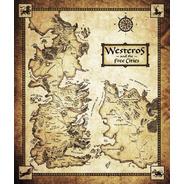 Mapa Westeros E Essos - Game Of Thrones - Sépia