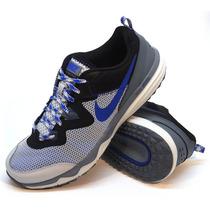 Zapatillas Nike Modelo Dual Fusion Trail Gris/negro/azul
