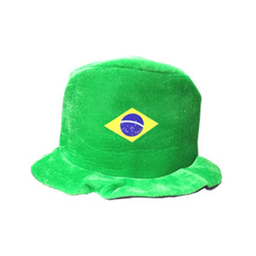 0dae558525864 Chapeu Cartola Torcedor Brasil Verde Copa Do Mundo 2018