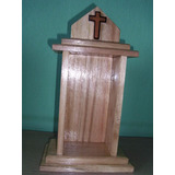 Capela Santo Madeira Maciça - Oratório - Modelo 4 - Igreja