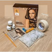 Cabelo Humano Curso Mega Hair Fita Adesiva + Dvd + Material