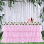 Pink Table Skirt