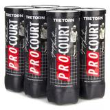 Bola De Tênis Tretorn Pro Court Guga Pack Com 06 Tubos