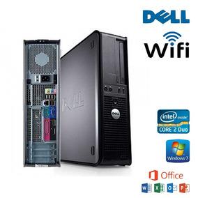Cpu Pc Dell Core2duo 2gb 160gb Hd Wi-fi Windows 7 + Office