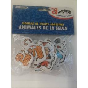 Figuras De Foamy Adhesivas Animales De La Selva Sysabe