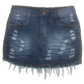 Mini Saia Jeans Juvenil Tam. 10 A 16 Anos - Ref. 1212
