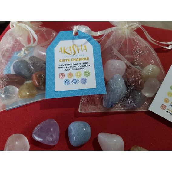 Set Piedras 7 Chakras - Llama Sagrada