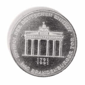 Moeda 10 Marco Alemã 1991, 200 Anos Do Portal De Brandenburg