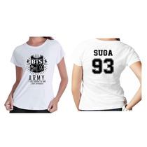 Camisetas Feminina Boby Look Personalizada Grupo Bts Nomes
