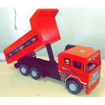 Brinquedo Caminhão Caçamba De Madeira Mdf Artesanal