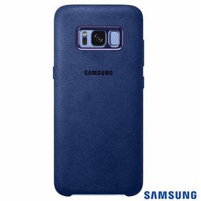 Capa Para Galaxy S8 Alcântara Cover Azul Samsung Efxg950al