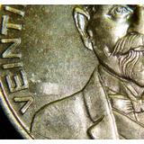 Monedas 25 Centavos 1966 Error Cospel Laminado Brillo Bu