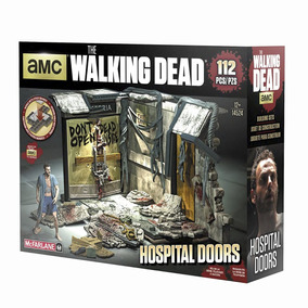 Set Amc The Walking Dead Portas Do Hospital Mcfarlane Toys