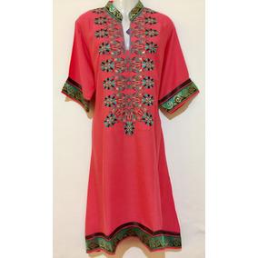 Vestido Moda Pakistani 100% Lino