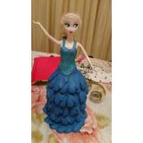 Muñeca Fronzen Elsa Vestido Goma Eva Candy Bar O Torta.