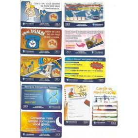 Cartões Telefônicos Telemar - 10 Cartões - Lote 06