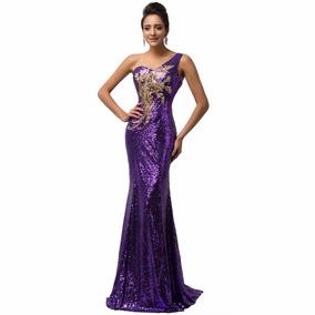 Vestido De 15 Anos Roxo - 34 36 38 40 42 44 46 48 - Vg00154