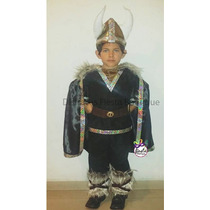 Disfraz Vikingo De Niño Guerrero Medieval Envio Gratis