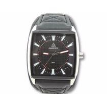 Relógio Masculino Bracelete De Couro Marinus Original Luan