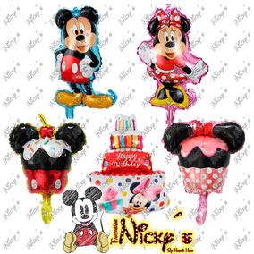 Globo Para Centros De Mesa Mickey Y Minnie Mouse Pequeños
