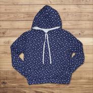 Buzo Sweater Mujer Estrellas Talla M En Friza Color Azul/bla