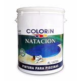 Pintura De Pileta Latex Natación Al Agua Colorín 4 Lt