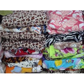 Mantas Casal Microfibra Para Revenda Kit Com 25 Cobertores