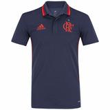 Camisa Polo Flamengo Cinza adidas 2016 Comissão Técinica