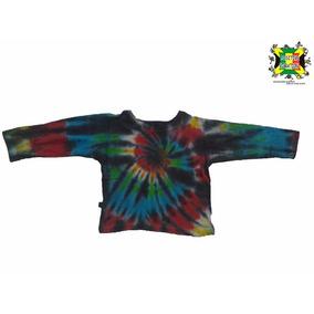 Camiseta Hippie Infantil Colorida Manga Longa N2
