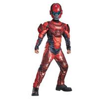 Disfraz Halo Rojo Spartan Niño Traje Con Musculos
