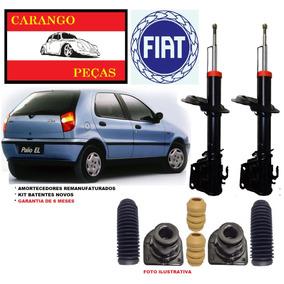 2 Amortecedor + 2 Kit Batente Fiat Palio 96 97 98 Dianteiro