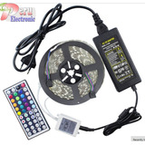 Tira Led 5 Metros Flex Ultrabrillante C/r 44key Rgb 5050