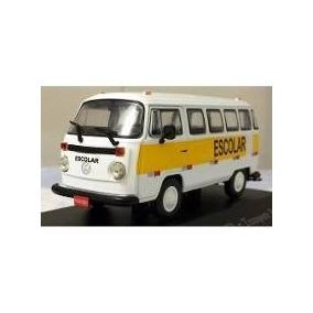Miniatura Kombi Escolar Volkswagen Veículo De Transporte