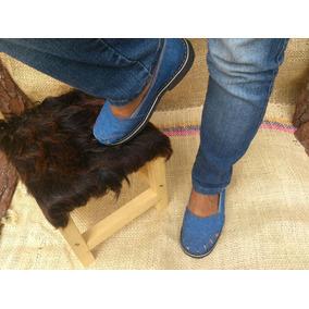 Zapatos Tipo Abuelita Alpargata En Jeans, Para Damas Moda