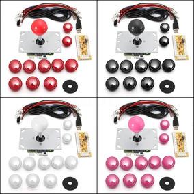 Kit Controle Joystick Arcade Tipo Sanwa Zero Delay Fliperama