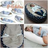 Combo Almohada Descanso + Cervical + Puff Para Bebe