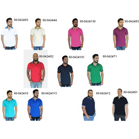 7938723b67 Kit 5 Camisa Polo Malha Lisa Pp P M G Gg Promoção Zambelê