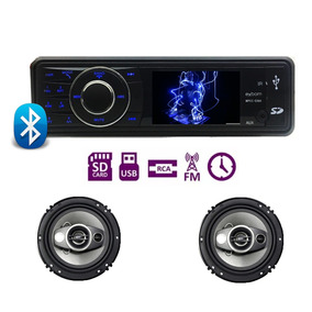Kit Auto Radio Mp5 Player Vw Gol Quadrado 1 Par Falantes