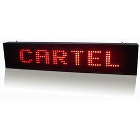 Cartel Letrero Led Mensaje Programable Movimiento 20x100 Cm