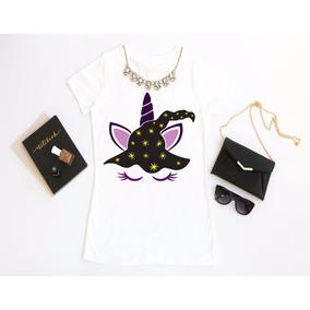 Playeras Hombre/mujer Halloween Calavera, Unicornio Bruja A