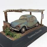 Diorama Vw Fusca 85 C/ Telhado Ii Customizado Enve 1:43 Ixo