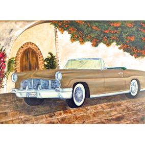 Continental Mk Ii - 1956, Pintura Óleo Sobre Tela 50 X 70 Cm