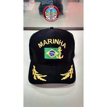 Boné Marinha Do Brasil Com Aba Bordada